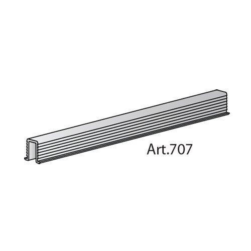 Профіль нижній врізний для гіда (арт.45), алюміній, 6м