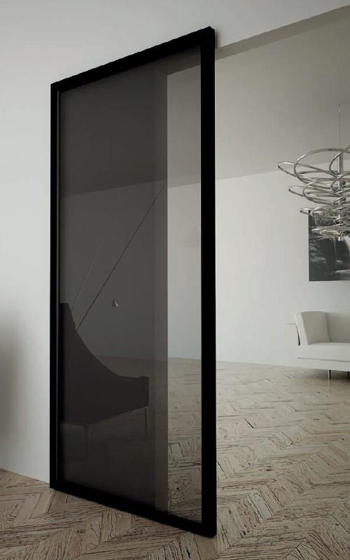 К-т системи MAGIC2-FRAME/1100x2200 GRFS (прихований мех-зм) на одну двері, 80кг, L=1100мм, графіт