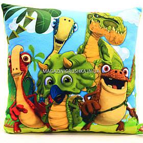 Подушка детская для ребенка «Динозавры», 40х40х10 см (00291-24)