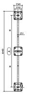 Вирівнювач для дверей серії 101, L=2598мм (пром упак.-500шт.)
