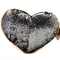 Подушка детская сувенирная Копиця с пайетками, 33х43х10 см, сердце, для девочки (00228-30), фото 3