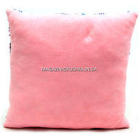 Подушка дитяча сувенірна Копиця з паєтками, 38х38х10 см, фламінго-сови, для дівчинки (24971-1), фото 3