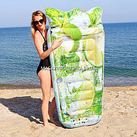 Надувной плотик, матрас Intex Мохито (58778). Для пляжа, фото 1