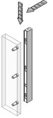 Профіль-ручка ST741 з вирівнювачем l=2400 мм (підрізається на 300мм). алюмиий