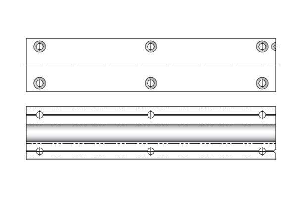 Профіль-вирівнювач ST701 з положення.TN602, L=2600 мм (підрізається на 400мм), алюміній