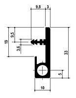 Профіль-ручка ST 231 з вирівнювачем TN601 L=2570мм, алюміній (для 19мм)
