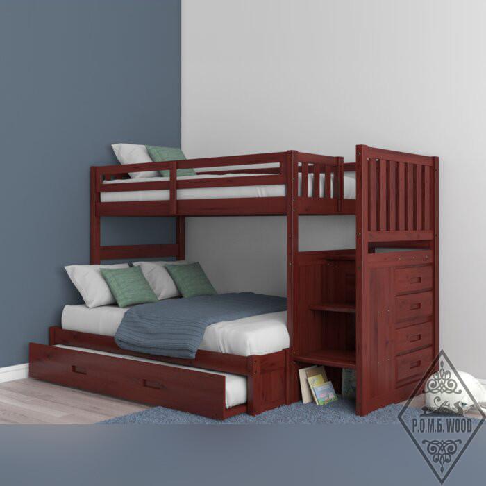 """Двухъярусная кровать """"Орвал"""" с выдвижным спальным местом"""