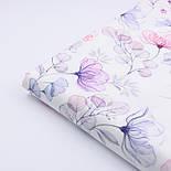 """Корейский хлопок """"Стеклянные цветы"""", ширина 110 см, фото 3"""