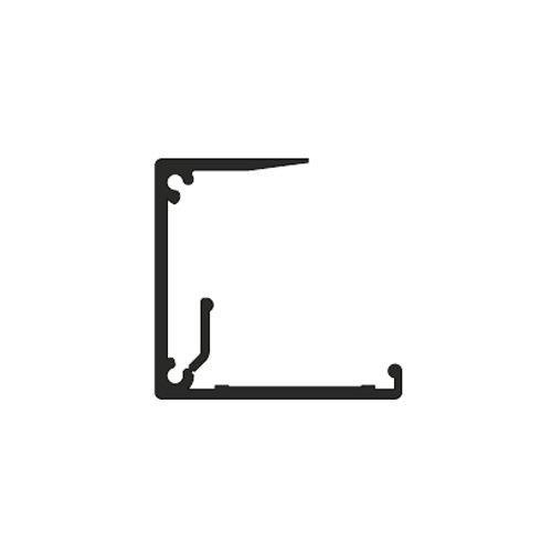 Профіль-заглушка Beta алюм., 5м