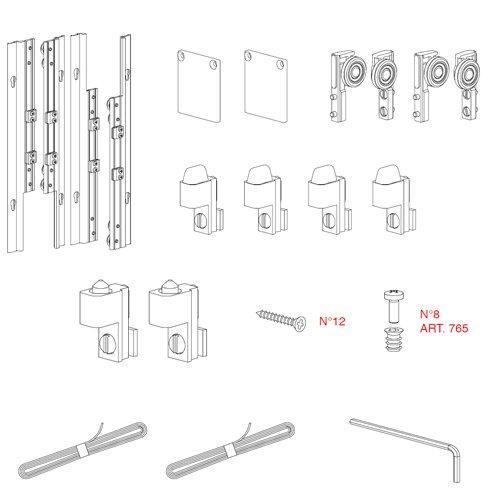 Механізм системи Beta для дверей ДСП 380-459мм