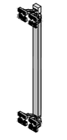 Вертикальний профіль синхронізатор L720мм (комплект для 3х дверей), алюміній