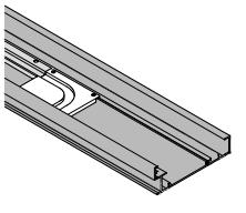 Профіль для компланарної системи 2000мм, алюміній анод. (для даху/дна)