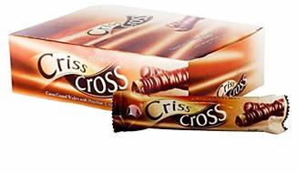 """Вафельна трубочка """"Criss Cross"""" з горіховим кремом, в шоколаді 24 шт"""