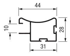 Вертикальний профіль TR10ND L=2600 мм, шпон дуб