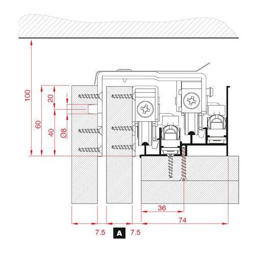 Напрямна верхня Air36 під доводчик для арт. 2063/2064, алюм. 6м