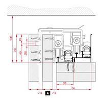 Напрямна верхня Air36 під доводчик для арт. 2063/2064, алюм. 6м, фото 1