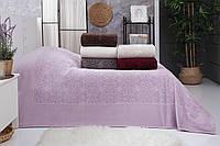 200х220см. Розовая велюровая простынь. Плотность 550 г/м2. Турция BELIZZA Р.67