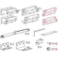 К-т для 3-х дверного шафи Space36 18 (макс 22) мм, 80кг, AIR доводчик, фото 1