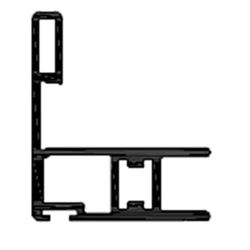 Вертикальний профіль-ручка ST20, 3м, чорний лак