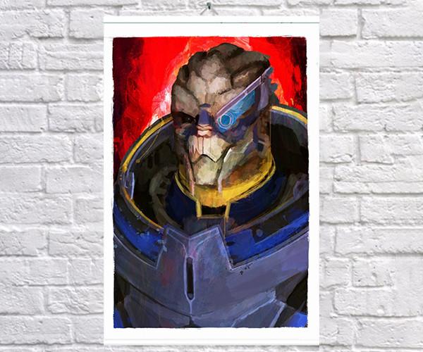 Постер плакат BEGEMOT Игра ME Mass Effect Гаррус Вакариан Garrus Vakarian 40x61 см (1121443)