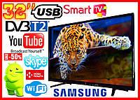 Телевизор 32 Samsung SmartTV LED! FullHD, IPTV, , T2, WIFI, 4К USB самсунг смарт 32 дюйма