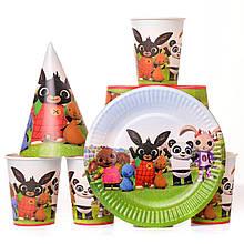 Набор детской одноразовой посуды зайчик Bing Bunny