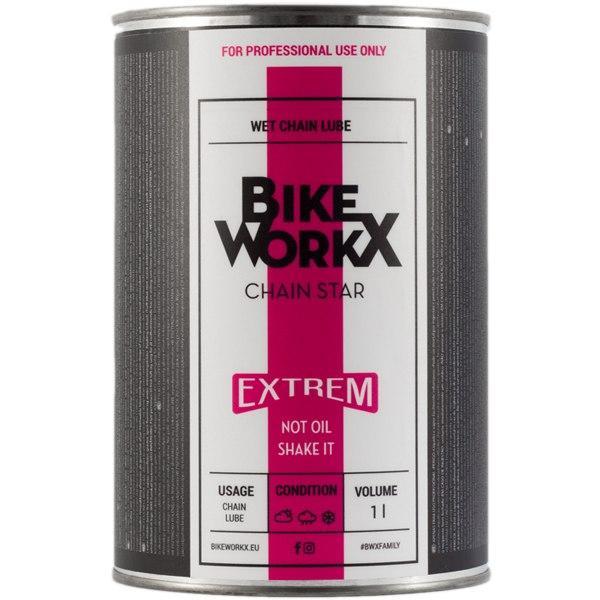 Смазка для цепи BikeWorkX Chain Star Extreme банка 1L