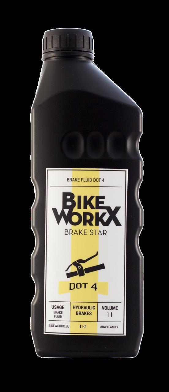 Тормозная жидкость BikeWorkX Brake Star DOT 4 1л.