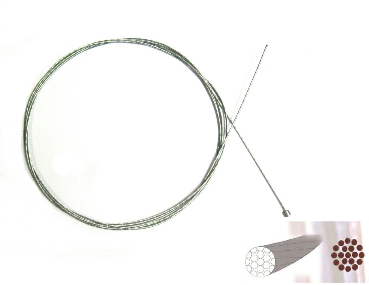 Нержавеющий полированный тросик переключения 2100 mm Sheng-An,  1шт.