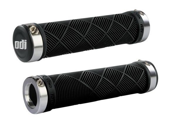 Грипсы ODI Cross Trainer MTB Lock-On, черные с серебристыми замками