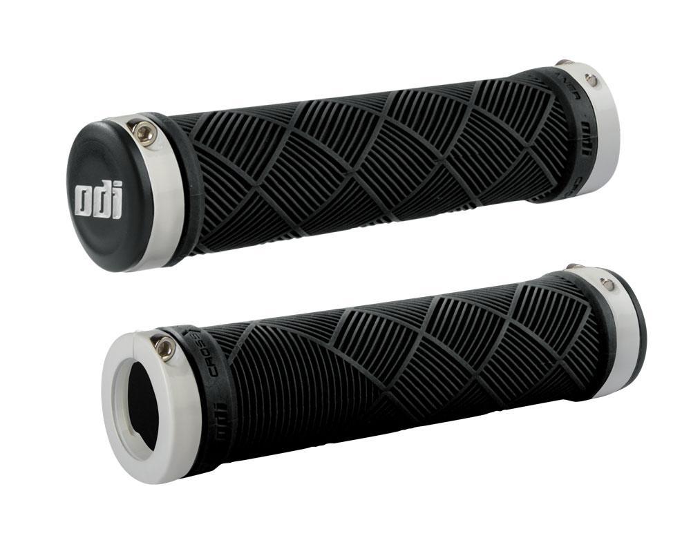 Грипсы ODI Cross Trainer MTB Lock-On Bonus Pack Black w/White Clamps (черные с белыми замками)