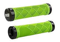 Грипсы ODI Cross Trainer MTB Lock-On, зеленые с черными замками