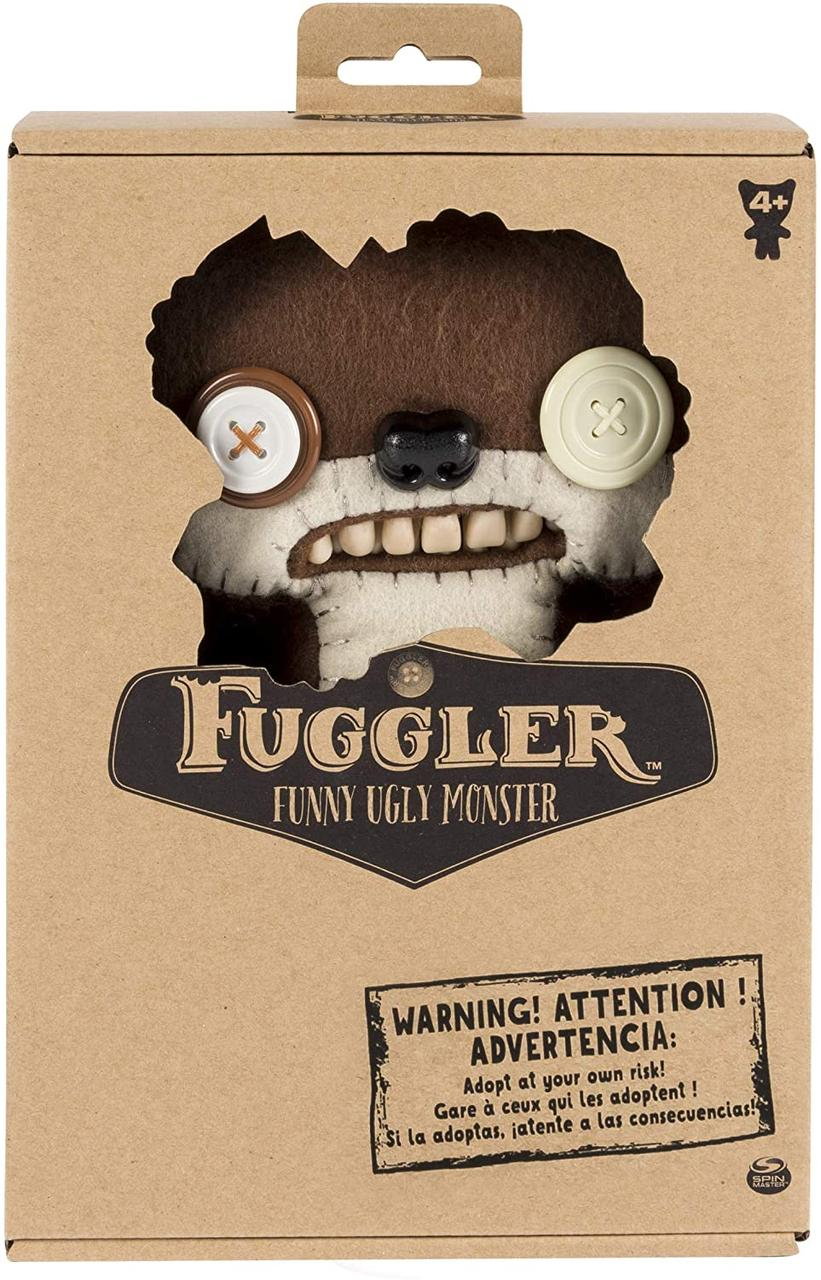 Мягкая игрушка с зубами Монстр мишка 27 cм Fuggler Funny Ugly Monster Teddy Bear Nightmare, Spin Master из США