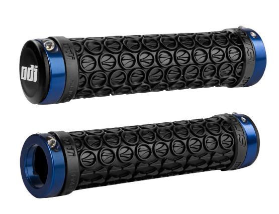 Грипсы ODI SDG LOCK-ON GRIPS Black w/Blue Clamps (черные с синими замками)
