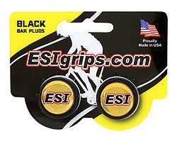 Заглушки руля ESI Bar Plug Black, чёрные