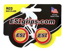Заглушки руля ESI Bar Plug Red, красные