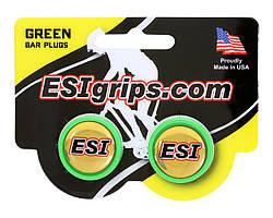 Заглушки руля ESI Bar Plug Green, зелёные