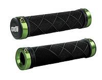 Грипсы ODI Cross Trainer MTB Lock-On, черные с зелеными замками
