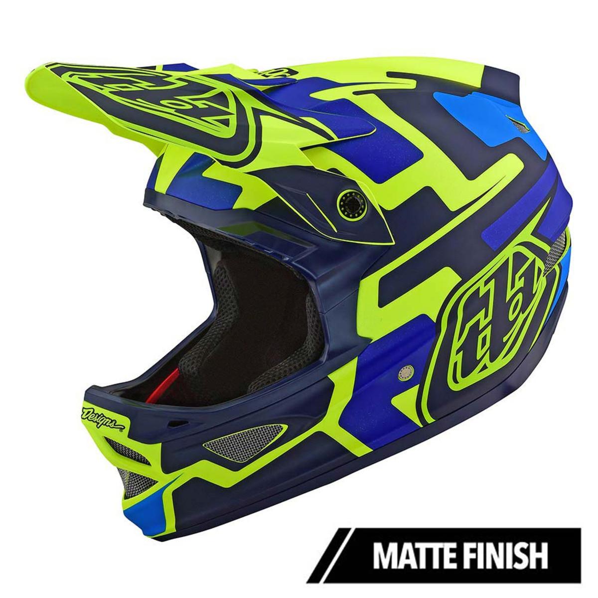 Вело шлем TLD D3 Fiberlite  Speedcode [YELLOW / BLUE] размер S