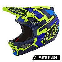 Вело шлем TLD D3 Fiberlite  Speedcode [YELLOW / BLUE] размер S, фото 1