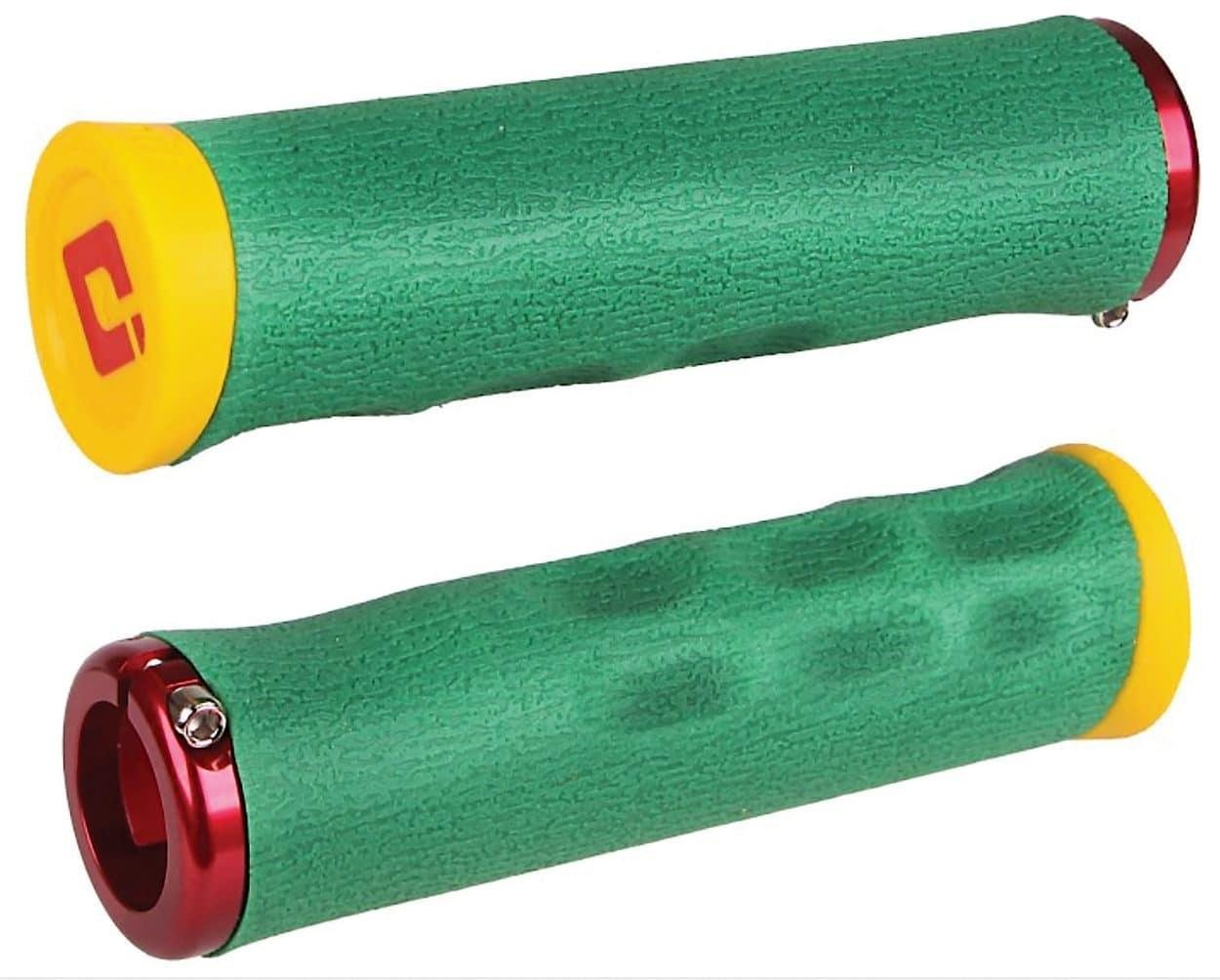 Гріпси ODI Tinker Juarez Dread Lock Grip Rasta w/Red clamp (раста з червоними замками)