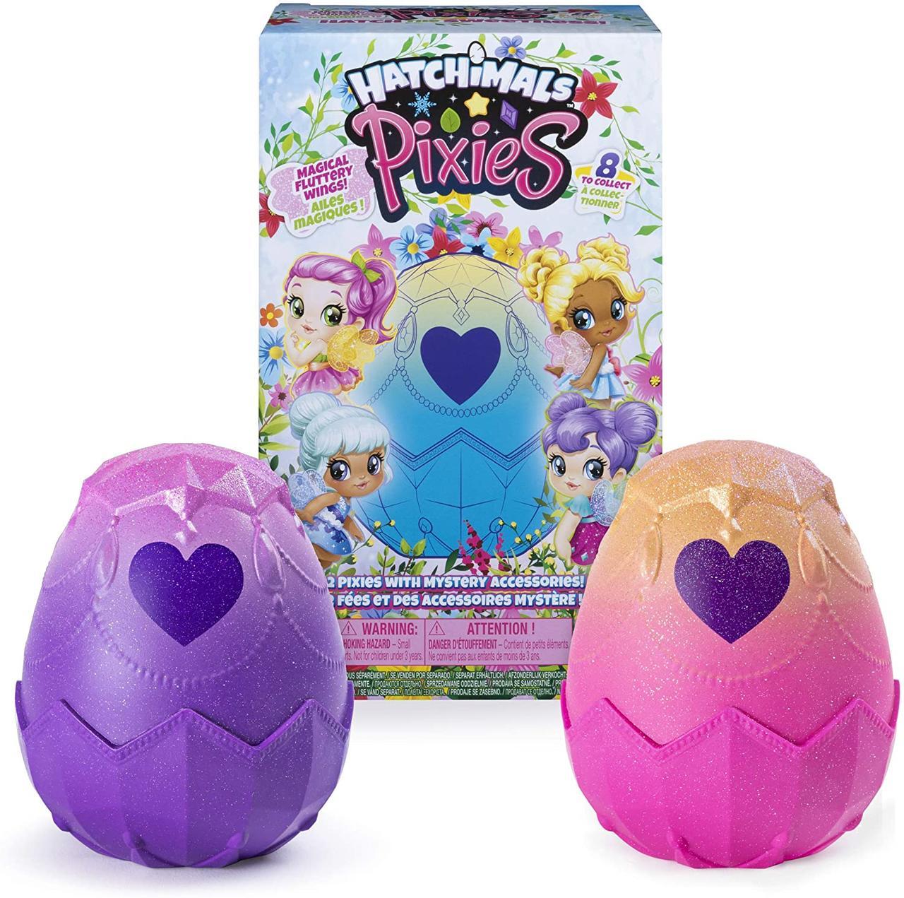 Набор 2 яйца с феями в яйцах хетчималс. Hatchimals Pixies, Spin Master, Оригинал из США