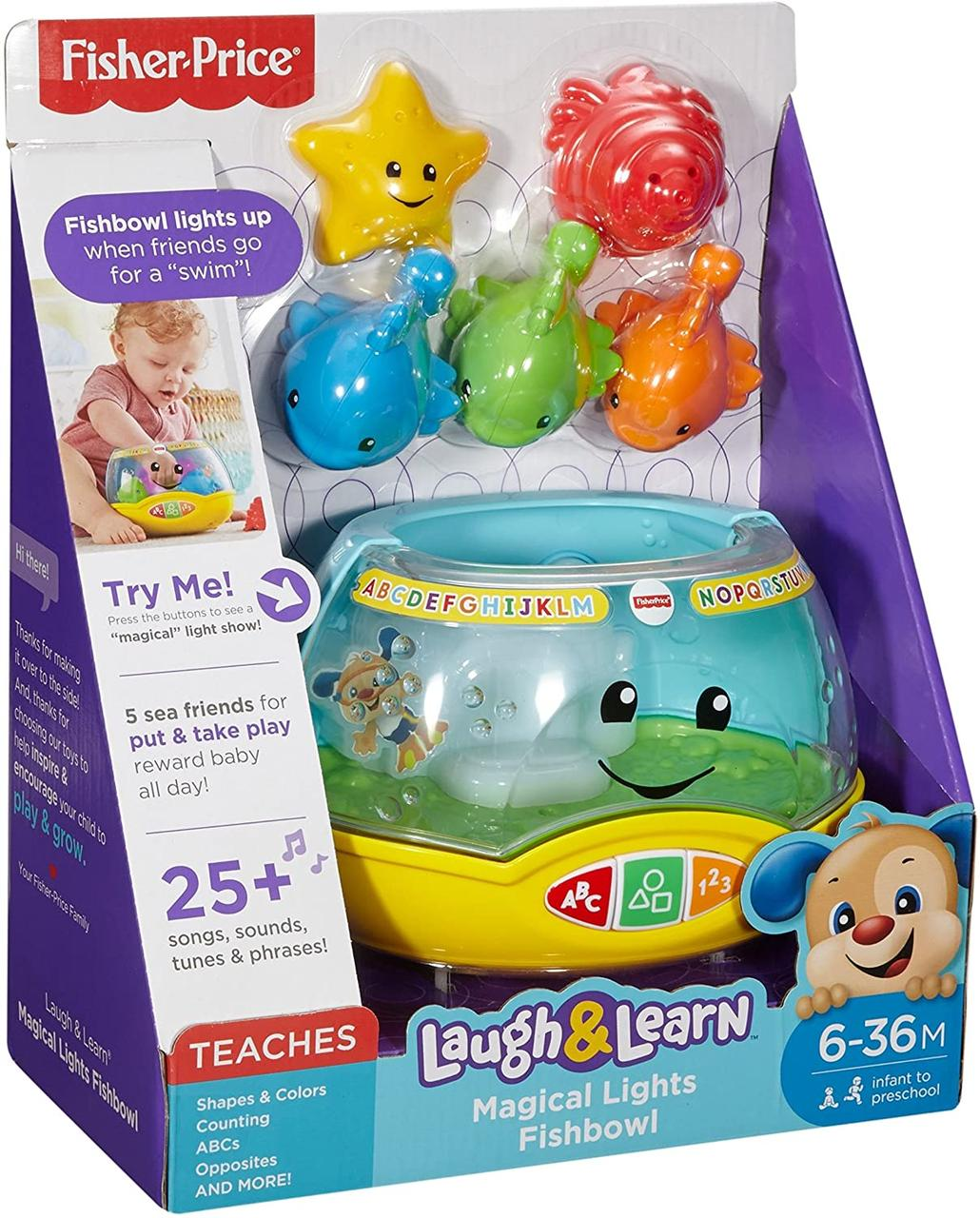 Веселый аквариум Волшебные Огни. Fisher-Price Laugh & Learn Magical Lights Fishbowl, Оригинал из США
