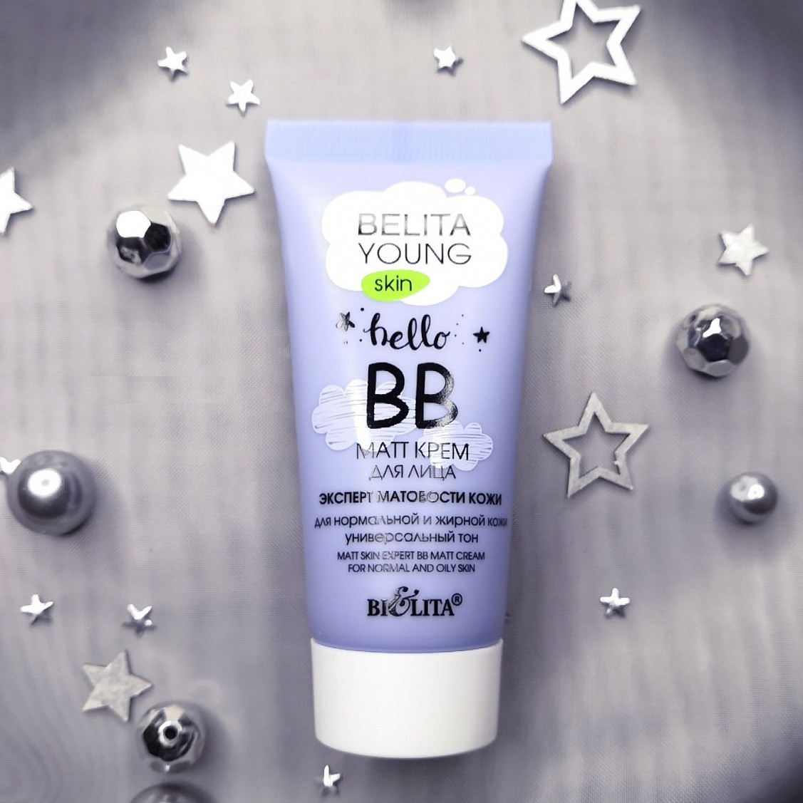 BB матуючий крем для корекції рельєфу і дефектів обличчя Belita Young Skin Експерт Матовості Шкіри 30 мл