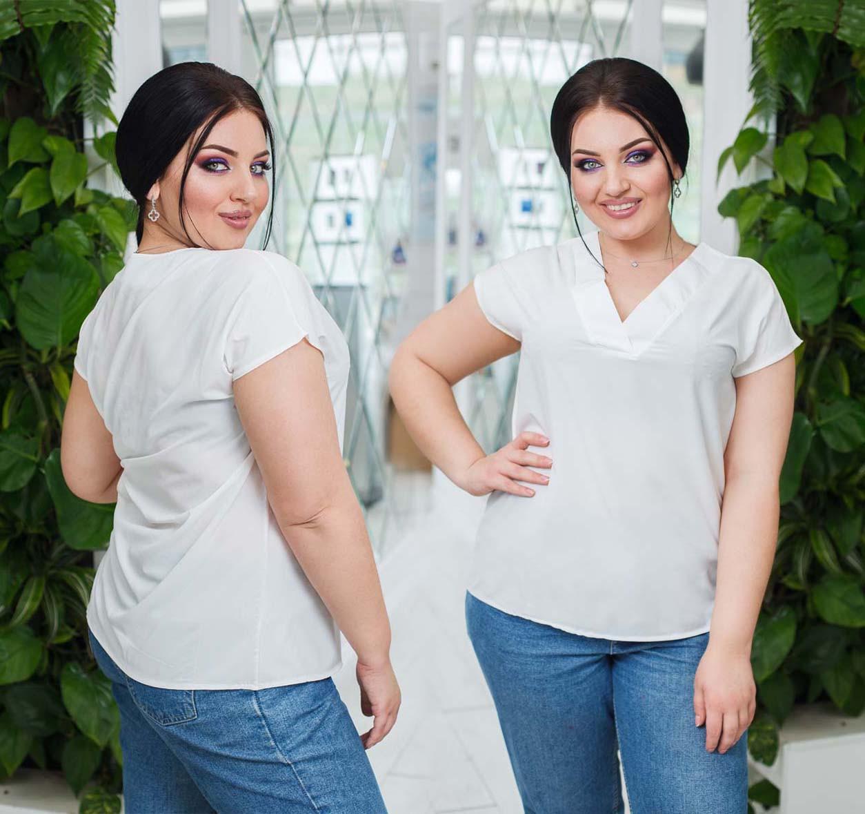 """Женская летняя блузка 15335 """"Софт Мысик Японка"""" в расцветках"""