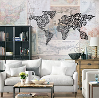 """Декор для стен. Панно из металла """"Карта мира 09"""""""
