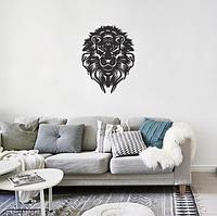 """Декор для стен. Панно из металла """"Черный лев"""""""