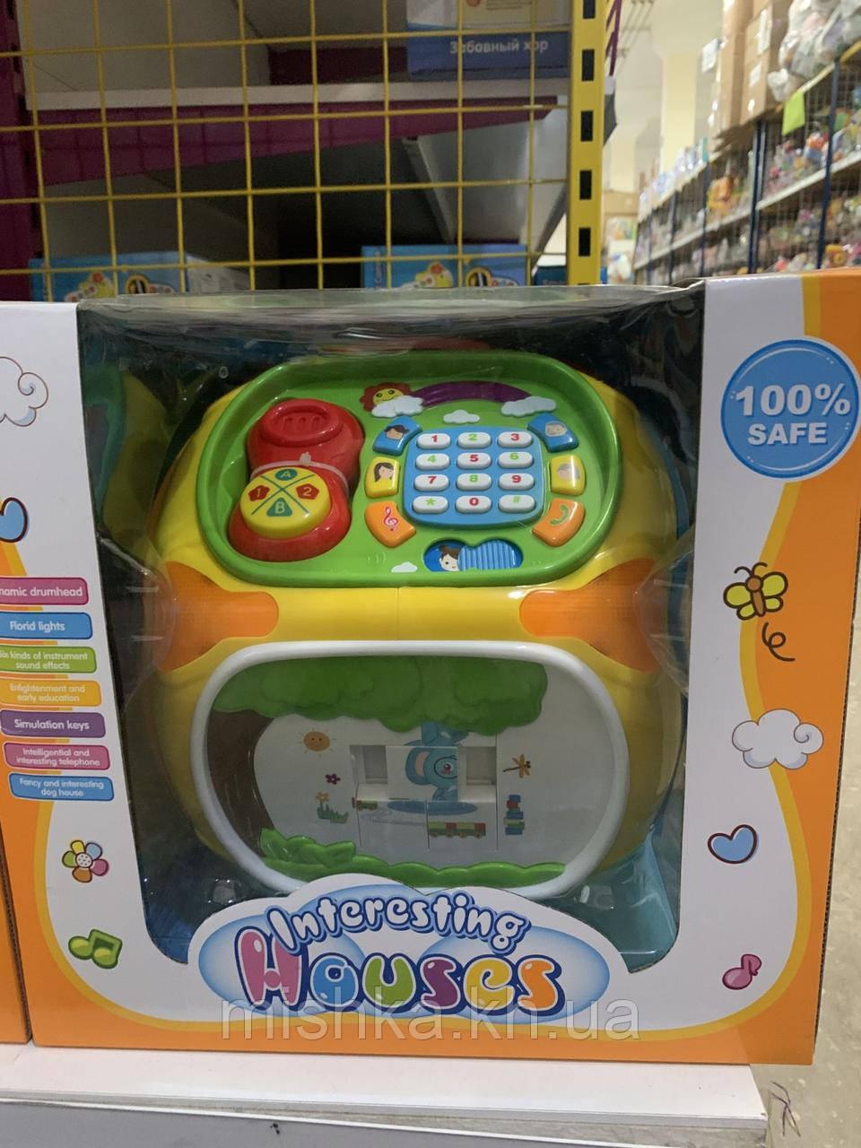 Музична розвиваюча іграшка будиночок