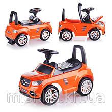 Машина-каталка Master Play (оранжевый), открывается капот, сиденье, светятся фары, муз.руль, в коробке
