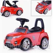 Машина-каталка Master Play  (красный), открывается капот, сиденье, светятся фары, муз.руль, в коробке